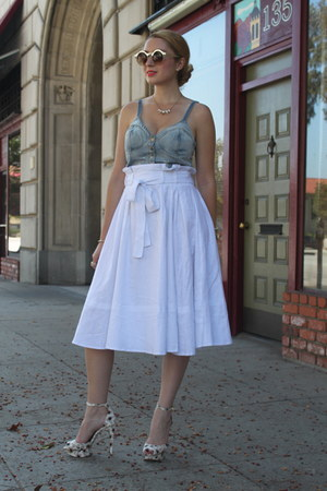 ivory asos skirt - light blue Topshop top