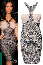 FDAvenue kim k Cut Out Bandage Bodycon Dress