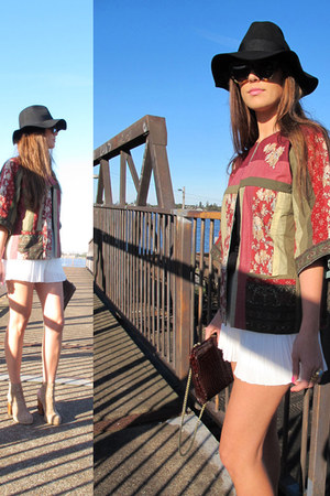 stylestalker shorts - jefferey campbell boots - Frankie sunshine Vintage jacket
