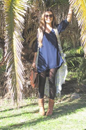 vintage boots - Finders Keepers dress - vintage bag - Karen Walker sunglasses -