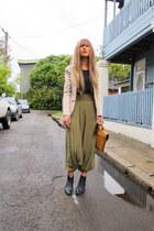 vintage boots - Frankie Sunshine blazer - vintage bag - Silk Harem Pants pants