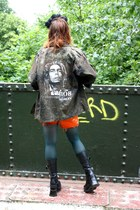 army green bob marley camo thrifted vintage jacket