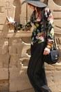 Rose-print-silk-diane-von-furstenberg-blouse-straw-hat