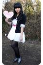 Gray-forever-21-shoes-white-dress-black-blazer-black-forever-21-accessorie