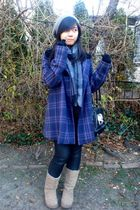 purple Juicy Couture coat - black ROOTS purse - beige Ugg boots - silver August