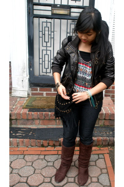 Guess jacket - Urban Outfitters shirt - Forever 21 accessories - Steve Madden sh