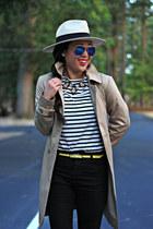 eggshell panama Forever 21 hat - white stripes Forever 21 shirt