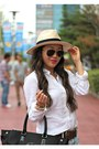 Eggshell-panama-forever-21-hat-white-button-down-jcrew-shirt