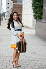 Orange-express-dress-silver-vintage-jacket-dark-brown-louis-vuitton-bag