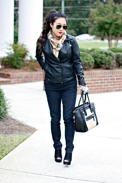 black Ann Taylor Loft jeans - black Forever 21 jacket