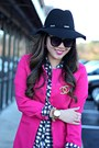 Black-forever-21-hat-hot-pink-everbuying-jacket