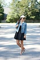 blue denim jacket Forever 21 jacket - black Forever 21 dress