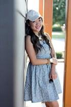 sky blue Forever 21 dress - ivory Forever 21 hat