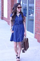 brown Anthropologie sunglasses - navy Forever 21 dress