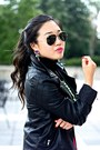 Black-forever-21-jacket-black-h-m-shirt-dark-gray-ray-ban-sunglasses