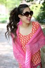 Orange-london-grace-boutique-dress-bubble-gum-polka-dot-fraas-scarf
