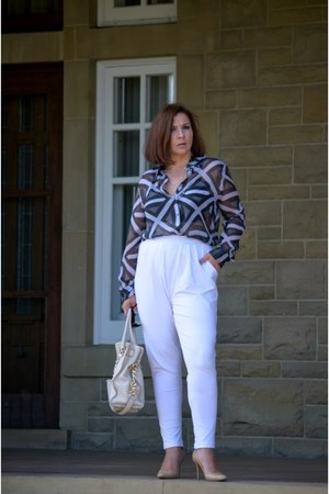 Jimmy Choo shoes - asos pants - Equipment blouse