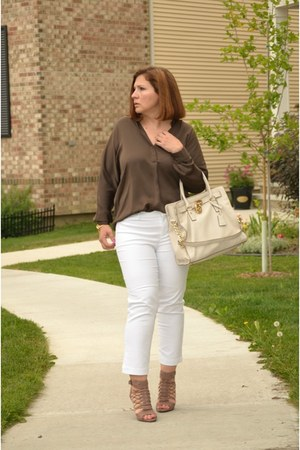 Vince Camuto shoes - Michael Kors bag - Lord and Taylor pants