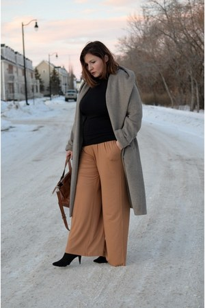 Zara coat - Zara bag - asos pants