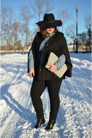 H&M cape - Old Navy jeans - Gap jacket