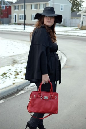 H&M hat - Michael Kors bag - H&M cape