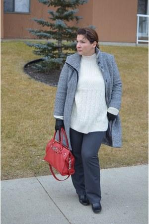 H&M coat - Topshop sweater - Michael Kors bag