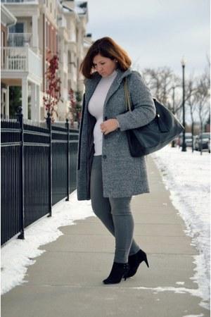 H&M coat - Old Navy jeans - Gucci bag