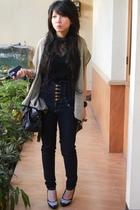 blouse - jeans - shoes - jacket