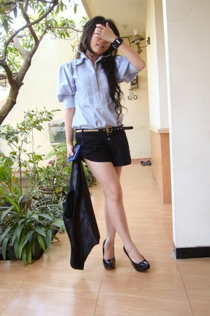 Zara shirt - random brand shorts - shoes