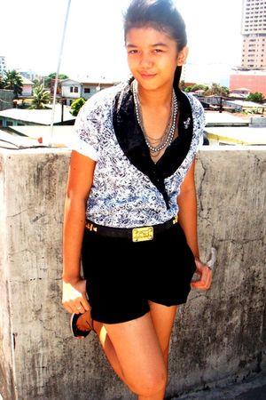 vintage from moms closet top - vintage Hermes belt belt - accessories - Zara sho