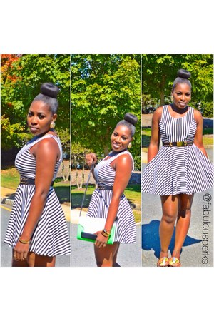 black Tannys Couture dress - H&M bag