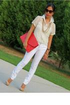 Belk jeans - Ebay bag - Forever 21 accessories - leather Aldo pumps