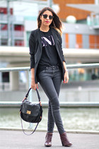 Zara jeans - asos boots - VANESSA BRUNO blazer - Marc by Marc Jacobs bag