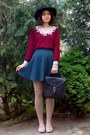 Black-gifted-h-m-hat-crimson-roses-sweater-neutral-tights