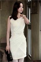 ivory peach RibbonO dress