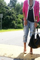 H&M cardigan - Cole Haan bag - delias pants - Urban Outfitters t-shirt