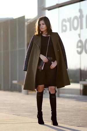 Guess boots - bcbg max azria coat - Sheinside jeans - purificación garcía bag