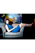 black t-strap heels Chelsea Crew shoes - blue Ark & Co dress