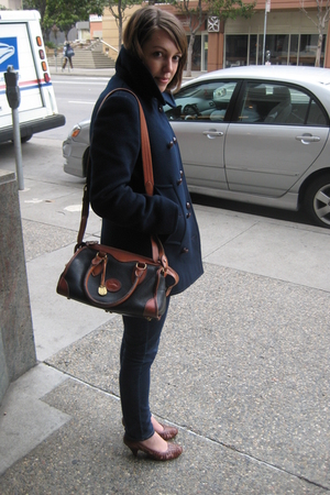 calvin klein coat - Dooney & Bourke accessories - Sam Edleman shoes