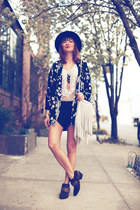 Front Row Shop jacket - sam edelman boots - Forever 21 blouse