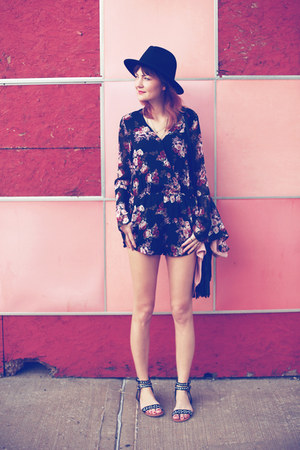 Forever 21 romper - Urban Outfitters sandals