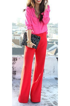 red long pants