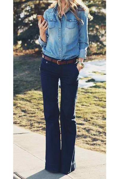 blue long jeans