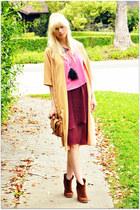 lulus dress - vintage jacket - H&M blouse