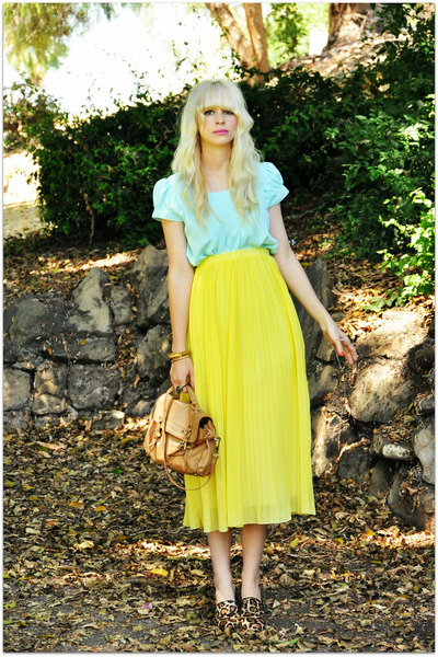 vintage dress - romwe skirt