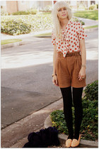 beige Tucker Target blouse - tawny Zara shorts