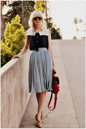 asos bag - American Apparel skirt - vintage flats