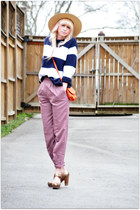 vintage pants - vintage sweater - Call it Spring bag