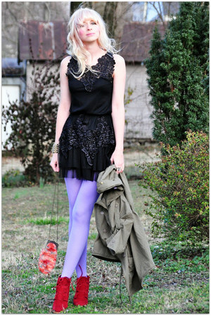 Chicwish dress - We Love Colors tights