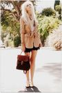 Beige-urban-1972-coat-white-vintage-blouse-black-urban-1972-shorts-green-v